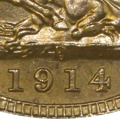P indicating a Perth mint issue