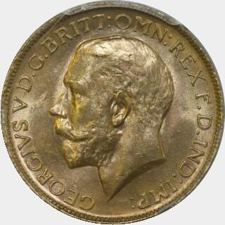 1914-P  Full Sovereign obverse