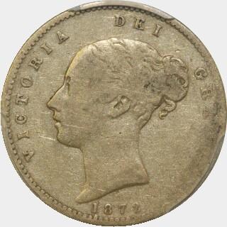 1872-S  Half Sovereign obverse