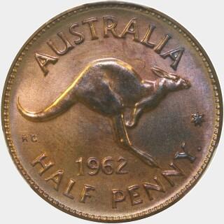 1962-Y Proof Half Penny reverse