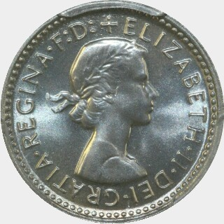 1962 Proof Threepence obverse