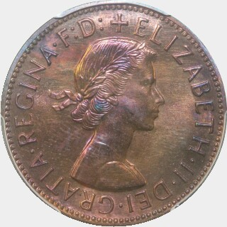 1958 Proof Penny obverse