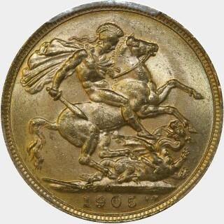 1905-M  Full Sovereign reverse