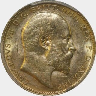 1905-M  Full Sovereign obverse
