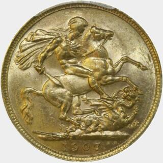 1907-M  Full Sovereign reverse