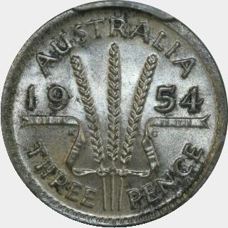 1954  Threepence reverse