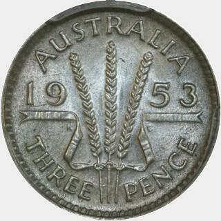 1953  Threepence reverse