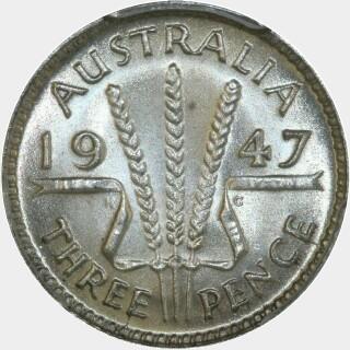 1947  Threepence reverse
