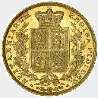 1883-S Proof Full Sovereign reverse