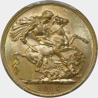1915-M  Full Sovereign reverse