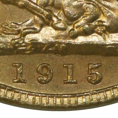 M mintmark indicating a Melbourne mint issue