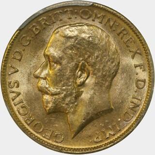 1915-M  Full Sovereign obverse