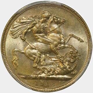 1912-S  Full Sovereign reverse