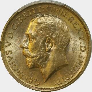 1912-S  Full Sovereign obverse