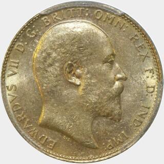 1909-M  Full Sovereign obverse