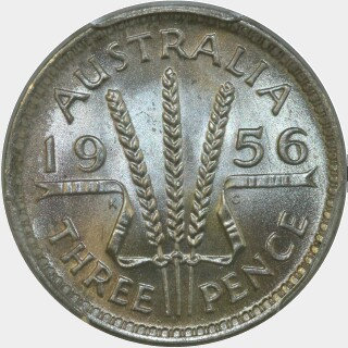 1956  Threepence reverse