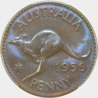 1959 Proof Penny reverse