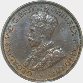 1916-I  Half Penny obverse