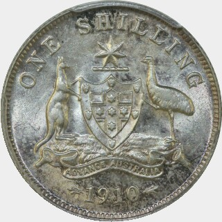 1910  Shilling reverse