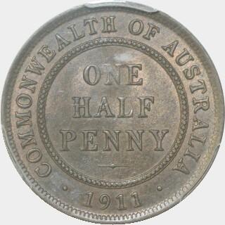 1911  Half Penny reverse