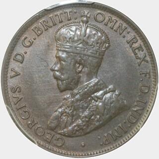 1911  Half Penny obverse
