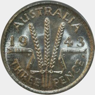 1943-S  Threepence reverse