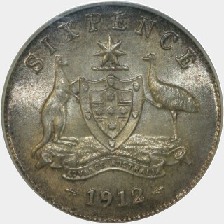 1912  Sixpence reverse
