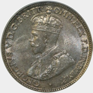 1912  Sixpence obverse