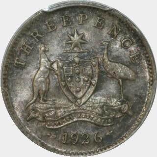 1926  Threepence reverse