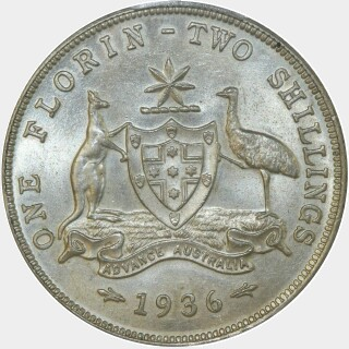 1936  Florin reverse