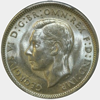 1943-S  One Shilling obverse