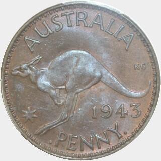 1943-I  Penny reverse