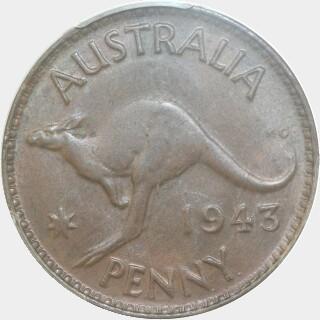 1943-Y  Penny reverse