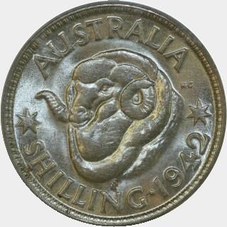 1942-S  Shilling reverse