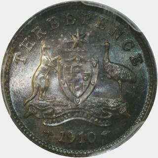 1910  Threepence reverse