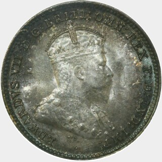 1910  Threepence obverse