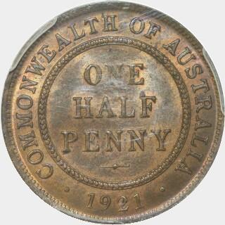 1921  Half Penny reverse