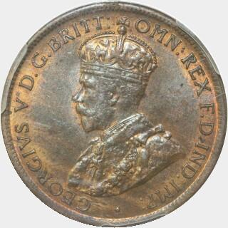 1921  Half Penny obverse