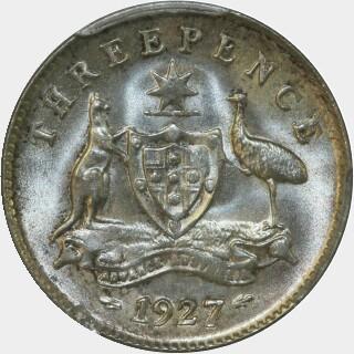 1927  Threepence reverse