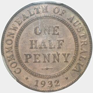 1932  Half Penny reverse
