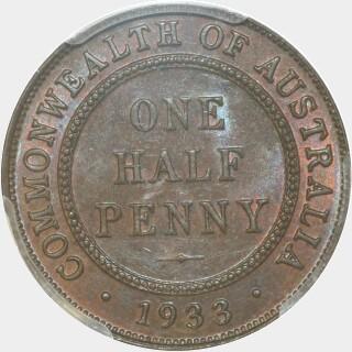 1933  Half Penny reverse