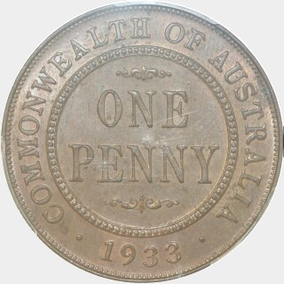 1933  Penny reverse