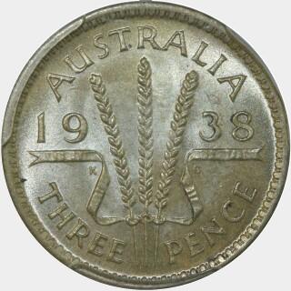 1938  Threepence reverse