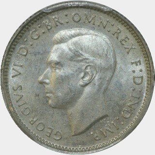 1938  Sixpence obverse