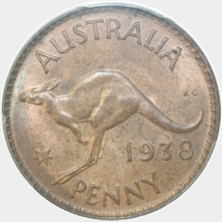 1938  Penny reverse