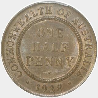 1938  Half Penny reverse