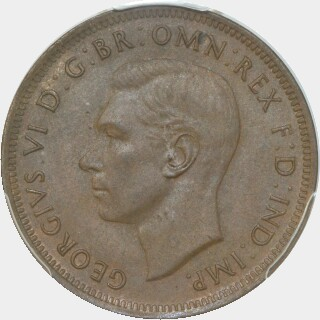 1938  Half Penny obverse