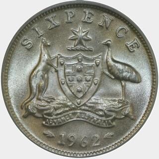 1962  Sixpence reverse