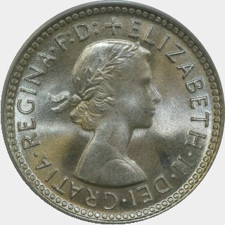 1962  Sixpence obverse