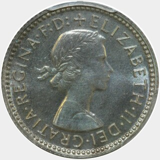 1959 Proof Sixpence obverse